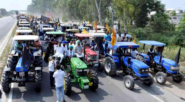 On January 6, farmers announced a tractor march